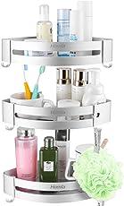 HOMFA Duschregal mit Abnehmbarem Haken Duschablage ohne Bohren Dreistöckige Badregal aus Aluminium Duschkorb 3 Stück für Badezimmer und Küchen