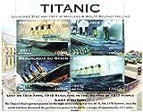 Titanic foglietto di 4 francobolli perforati per i collezionisti - Quadri di Titanic - Republique du Benin / 2011/ 4 valori / MNH - Stampbank - amazon.it