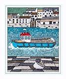 Polperro Möve–Cornwall–Polperro Set von Emma Louise Art Stitch