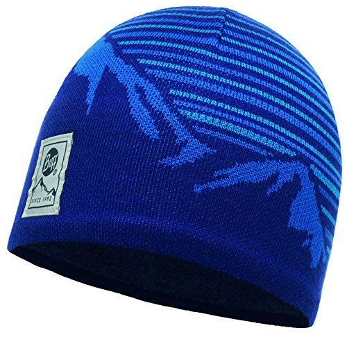 Buff Knitted und Polar Hat Laki Mütze, Blue Ink, One Size