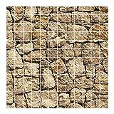 Bilderwelten Fliesenbild - Alte Wand aus Pflasterstein - Fliesensticker Set, Fliesengröße: 15 cm x 15 cm, Größe HxB: 120cm x 120cm