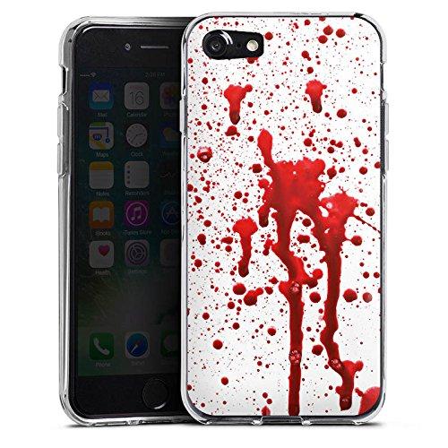 Apple iPhone X Silikon Hülle Case Schutzhülle Blut Halloween Gothic Silikon Case transparent