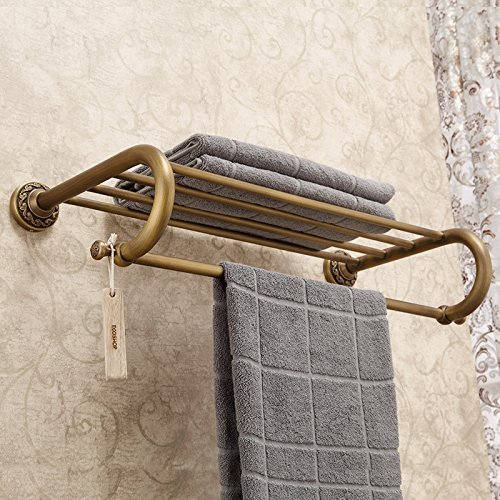Alle Bronze Antique European Style Bad Bad Handtuch Rack Handtuch Rack Badezimmer Regal 62 * 30 * 16Cm