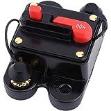 12V-24V 80-300A DC Coche Auto Marine Bicicleta Estéreo Audio Interruptor de Circuito Restablecer Fusible(80A )