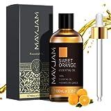 MAYJAM Oli Essenziali di Arancia Dolce 100 ml, Olio Essenziale di Aromaterapia di Grado Terapeutico Naturale Puro al 100…