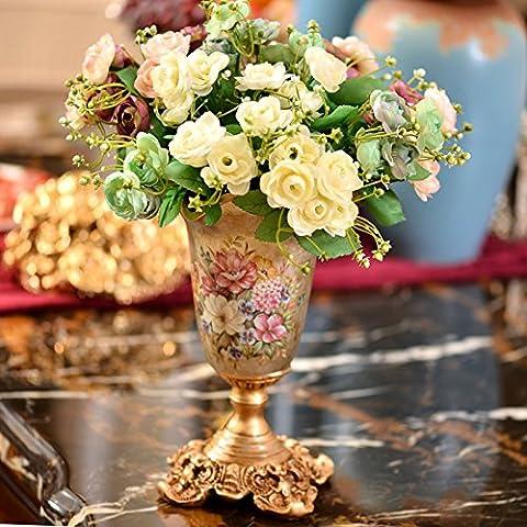 Palazzo retrò vasi vasi con un pezzo di oro plus 6 vasi melograno del fascio