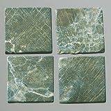 MosaixPur 20x 20x 4mm 200g 45-tlg. natur Stein Mosaik Fliesen, dunkelgrün