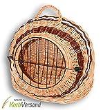 KORBVERSAND Katzenkorb Hundekorb - 60x48x51 cm - Transportkorb Tierkorb Katzenbox Hundebox Katzenhöhle Hundehöhle Liegeplatz Schlafkorb