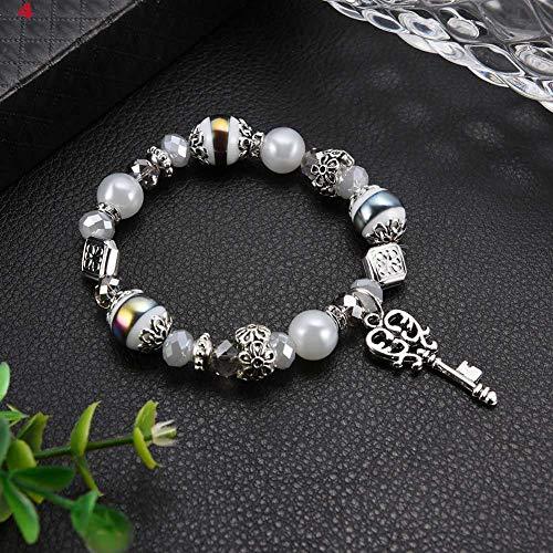 Alaojie Bohemian Color Beads Tassel Charms Bracelets for Women Ethnic Style Jewelry Bracelet New