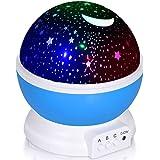 Adoric Proyector Lámpara De Dormir Lámpara Infantil Lámpara Proyector Infantil 360 Grados De Rotación 3 Modo de Luz De Proyec