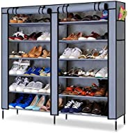 PAffy Shoe 12 Shelf Cloth Cabinet, Shoe Rack Organiser, Color – Random