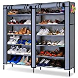 #3: PAffy Shoe 12 Shelf Cloth Cabinet, Shoe Rack Organiser, Colour – Random (20 Year Warranty *MADE IN INDIA)