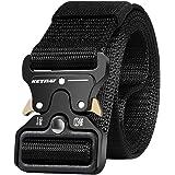 KEYNAT Cintura Tattica Nylon con Fibbia Cobra 125x3.8cm Uomo Cintura Militare Fibbia a Sgancio Rapido in Metallo per Sport Al