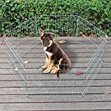 Jaula Valla Parque para Mascotas Cachorros juego 6 piezas 70x76cm Corralito variable