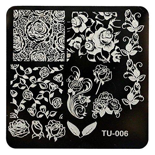 LHWY Nail art image de timbre bricolage estampage des plaques modèle manucure