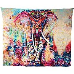 tapiz elefante colorido