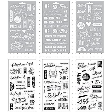 Me & My Big Ideas autocollants poche Pages Transparent 6sheets-our Wedding Day