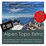Alpen Garmin Karte TOPO EXTRA - 8 GB microSD. (Deutschland Schweiz Italien Österreich Frankreich Slowenien) GPS Freizeitkarte Fahrrad Wandern Touren Trekking Geocaching Outdoor. Navigationsgeräte & PC