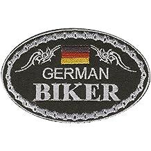 AUFNÄHER - German Biker - 04335 - Gr. ca. 9,5 x 6 cm - Patches Stick Applikation