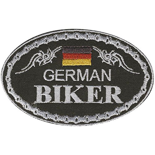 AUFNÄHER - German Biker - 04335 - Gr. ca. 9,5 x 6 cm - Patches Stick Applikation (Kleidung, Die Loch-patch)