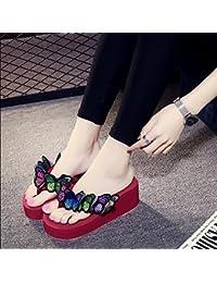 MeiMei Clip Füße Flach Schuh Clip-Water Bohren Koreanischen Frau Sommer Sandalen Römische Schuhe.