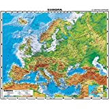 XL Europa physisch Wenschow - Landkarten Papier, gerollt, beidseitig matt antireflexierend extra stark laminiert (reißfest, beschreib- und abwaschbar)