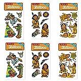 6-teiliges-Tattoo-Set-Indianer-von-Lutz-Mauder-Kinder-Kindertattoo-Kindergeburtstag-Geburtstag-Mitgebsel-Geschenk-Indianer-Huptling-Wilderwesten-Cowboy
