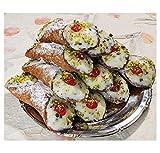 8 Cannoli Siciliani con pura ricotta di pecora con pistacchi -...