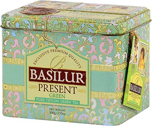 Basilur Grüner Tee Geschenkbox grün 100 g Weihnachtstee