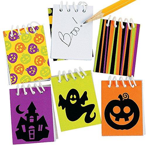Elfen und Zwerge 12 x Halloween Mini Notizblock Notizen Gruselparty wunderbares Mitgebsel (Für Eine Block Party Halloween Ideen)
