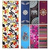 Yoga asciugamani-Fremous stampato tappetino antiscivolo asciugamani con angolo tasca design (182,9x 63,5cm)-ideale per yoga, fitness, pilates, sport e tempo libero, Maple Leaf