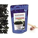 Wakame Algen getrockneter Instant 3' Algen 100 % Wakame-Flocken Premium Quality -wiederverschließbaren Beutel, bleumarine Bretania-France