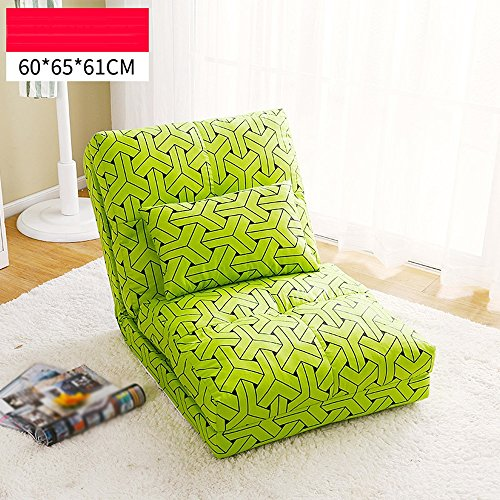 Faules Sofa Lazy Sofa, Single Simple Sofa Stuhl, Schlafzimmer Doppel-Schlafsofa, Falten Lazy Bed ( Farbe : 2# , größe : 60*65*61cm )
