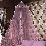 OurLeeme classica pieghevole Bed Tenda della zanzara della mosca Prevenzione letto a baldacchino pizzo per Ragazze Bambini Rosa