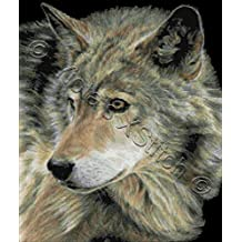 2a70e9af7d68c Curious eyes - wolf - large counted cross stitch kit