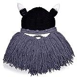 Vbiger Bonnet Invernali Berretti in Maglia Cappello Polipo Santa Claus vichinghi Unisex (Barba grigia)