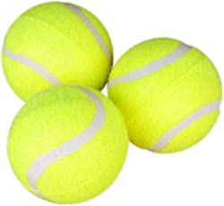 Pet Needs High Quality Combo of 3 Tennis Bouncy Ball for Puppy -Small-for Fetch I Fun