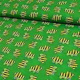 Jersey Stoff Janosch Tigerente grün