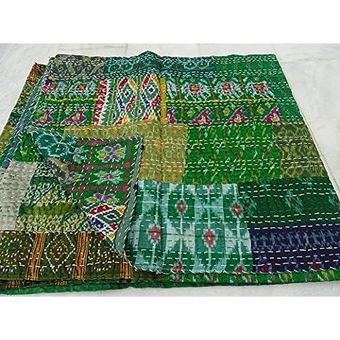 Rawyal - Copriletto indiano realizzato a mano,