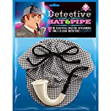Detective Hat and Pipe - Sherlock Holmes Kit