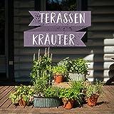Terrassen Set - Mach deine Terrasse zur Wohlfühl-Oase - 12 leckere Kräuter für die Terrasse