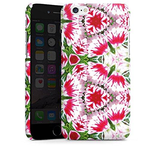 Apple iPhone X Silikon Hülle Case Schutzhülle Modern Kaleidoskop Blumen Premium Case matt