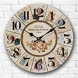 Y-hui facile à utiliser la salle de séjour Table de jardin Art Horloge murale Horloge Horloge Murale Quartz Mute, 20 pouces ,WG003-C