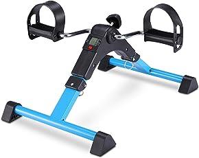 EXEFIT Mini Fahrrad Pedaltrainer für Arm- und Beintrainer Heimtrainer mit LCD-Monitor Faltbare