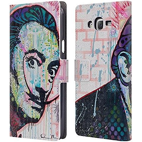 Ufficiale Dean Russo Dali Iconici Cover a portafoglio in pelle per Samsung Galaxy J7