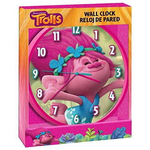 Trolls tr17055Poppy Wanduhr, 25cm