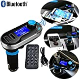 REALMAX® Bluetooth Lettore MP3 Trasmettitore FM vivavoce Car Kit caricabatteria per iPhone, HTC, Samsung, Blackberry, Sony, Nokia, LG