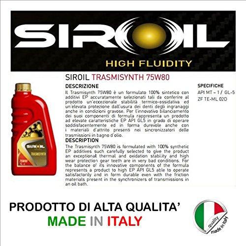 OLIO CAMBIO SIROIL 75W80 TRASMISYNTH