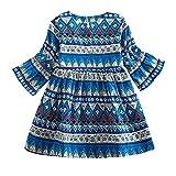 Quaan Kleinkind Baby Mädchen Lange Ärmel Drucken Bohemien Stil Party Kleid Outfits Kleider Baumwolle niedlich Charakter beiläufig warm weich gemütlich Mantel Sweatshirt Windjacke