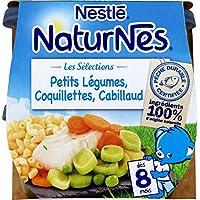Nestlé 12209223 4 Petits Pots et Plaques pour Bébé 1600 g -Pack de 8
